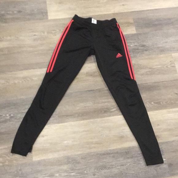 4d2756200 adidas Pants - Adidas Red and Black Jogger Sweatpants